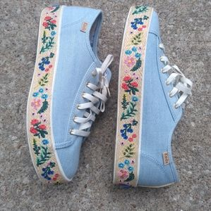 Keds Triple kick Rosalie embroidered Jute